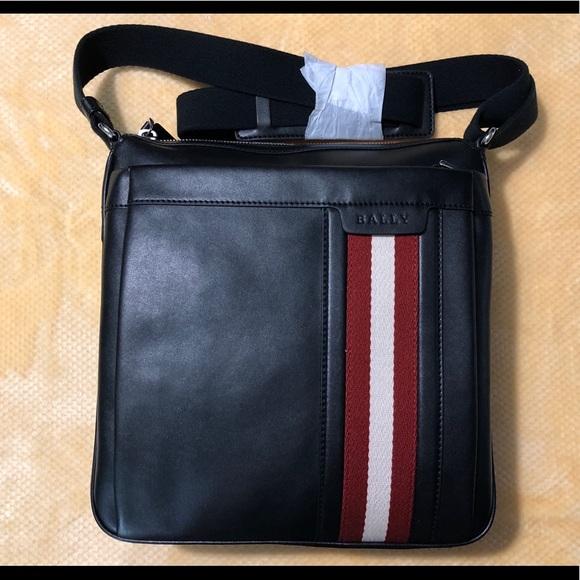 c4806d11a798 Bally Oiston MD Men s Messenger Bag Black Bovine